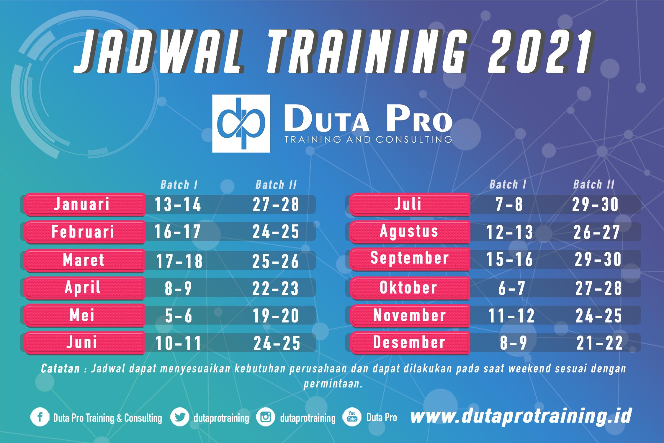 Jadwal Training 2021 1